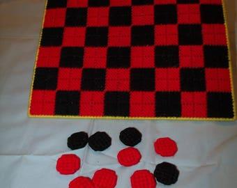 Homemade Checkers Set