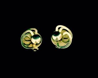 Vintage 40's Art Piece Earrings        VG278