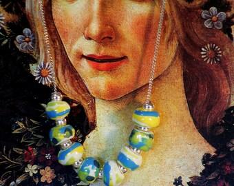Colorful  hanmade ceramic necklace