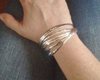 Silver weekly solid woman 42 grams 925 Silver - layering bracelet