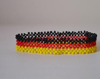 Germany Flag Bracelet | Maasai beaded bracelets | Flag of Germany | wrist band.