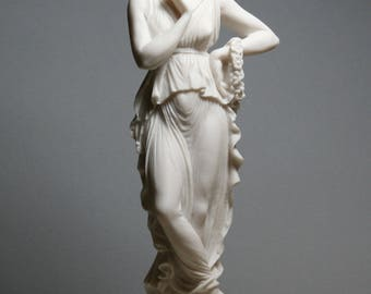 """PERSEPHONE Goddess Queen of the underworld Alabaster Sculpture Statue 9.8"""" **Free Shipping & Free Tracking Number**"""