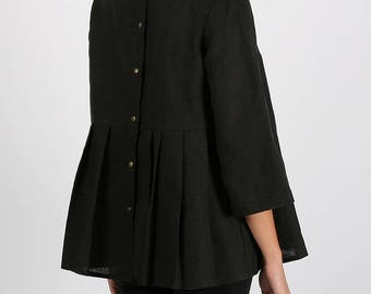 Black linen shirt   Etsy
