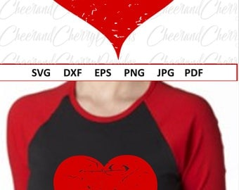 Heart Svg Valentine svg for Valentines day svg files for Cricut Distressed Svg files for Silhouette Cameo Heart Grunge Svg Dxf Eps Jpg Png