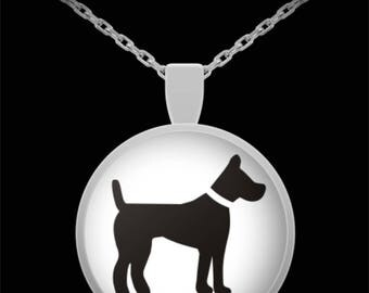 """Adorable Terrier Silhouette Necklace with Pendant! Ideal gift for an animal lover! Wear this proudly on 22"""" silver plated necklace!"""