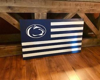 Wood Flag, PSU Flag, Distressed Wood Flag, Wall Art, Wall Flag