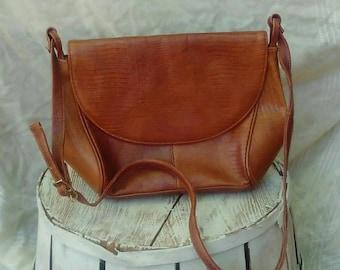Genuine Leather Handbag/ Vintage Latinas Purse/ Brown Leather Bag