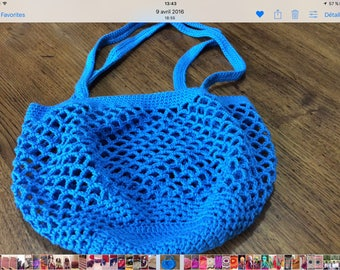 Perfect bag for groceries or beach bag blue