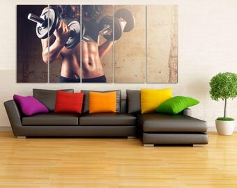 Girls Gymnastics Wall Art, Gymnastic Equipment Canvas Print, Girls Gymnast Decor, Girls Sport Wall Art, Gymnast Gift, Powerlifting LC084