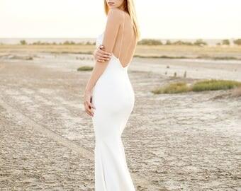 simple wedding dress, wedding dress, bridesmaid dress