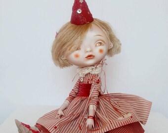 Petrushka's Girlfriend - paperclay art doll OOAK