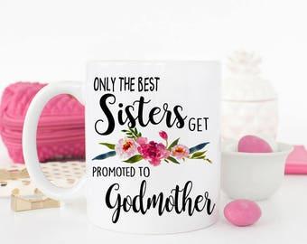 Sister Godmother gift, godmother, godparent gift, christening gift, gift for godmother, Godmother mug, baptism gift, Confirmation, baptism