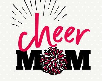 Cheer Mom SVG file, Cheer Mom Iron on file, Cheerleading Mom Shirt svg design, Cheerleading SVG, Cheer cut file