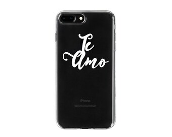 Te Amo.Gift for Husband.Wife.Valentine's Day phone case.iPhone X case.iPhone 8 case.iPhone 8Plus case.iPhone 7 case.iPhone 7Plus case