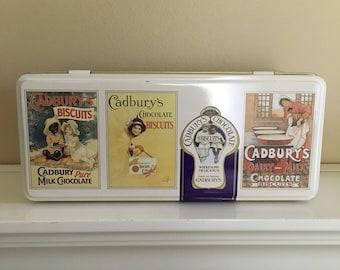 Vintage Cadbury's Chocolate Biscuits hinged tin