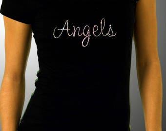 Angels Rhinestone Tee