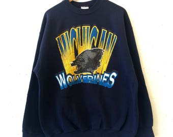 Vintage Bold University of Michigan Wolverines Sweatshirt