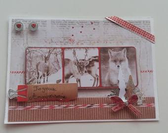 Card - Birthday card - happy birthday-winter - forest animals Theme