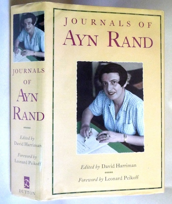 The Journals of Ayn Rand 1997 David Harriman (ed) Dutton - 1st Edition Hardcover HC w/ Dust jacket DJ