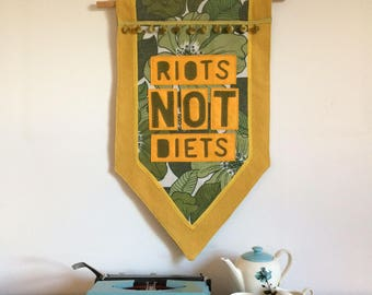 Riots Not Diets banner