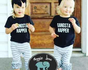 Gangsta Napper, Funny Kid's Shirt, Kids Shirt, Toddler Shirt, Youth Shirt, Funny, Kids, Back to School