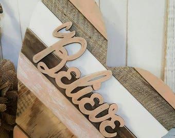 Reclaimed wood Heart, Reclaimed wood, Wood Heart, Heart, Rustic Wood, Wood sign, Wood wall Art, Wall Hangings, Wood wall hanging, believe