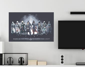 Assassin's Creed Work In The Dark To Serve The Light Assassins Group Wall Decal Officially Licensed by Ubisoft