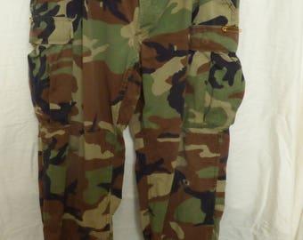 Military Woodland Camo Pants