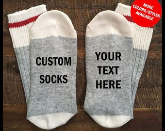 Personalized Socks, Custom Socks, Customized Socks, If You Can Read This Socks, Personalized Stocking Stuffer, Personalized Gifts