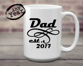 Dad est | New Dad | Pregnancy Reveal | Gift for Dad | Fathers Day | Dad Birthday | New Dad Gift | Grandpa est | New Grandpa | Grandpa Gift |