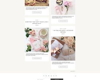 Vanilla - Blogger Template Responsive Minimalistic Design