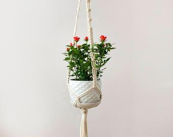 Macrame Plant Hanger, Hanging Planter, Macrame Plant Holder, Pot Hanger, Plant Holder, Cotton Hanging Planter, Macrame Hanger, Bowl Hanger