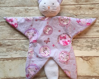Doudou baby blankie comforter Cat pattern cats