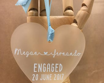 Personalised Engagement Gift, Engagement Ornament, Gift for Couple, Engagement Present, Engagement Keepsake