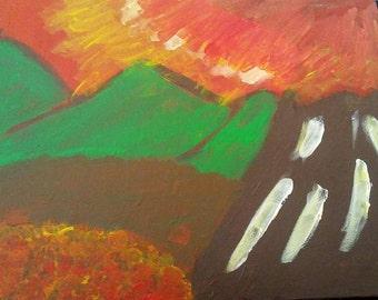 Autumn - Acrylic Paint on Canvas Painting