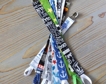 Pacifier Clip boy Star Wars Soccer Marines Nautical Religious