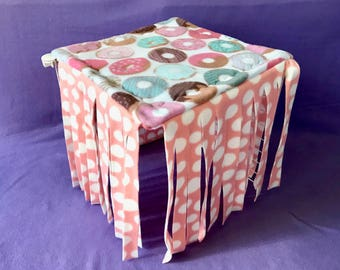 Ready to Ship 1x1 Donut Fleece Forest!! For Guinea Pigs, Hedgehogs, Ferrets, Small Animals!