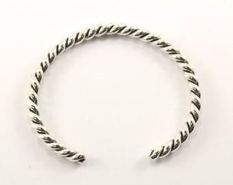 Vintage Rope Cuff Bracelet Sterling Silver BR 1958