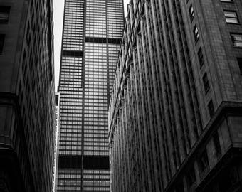 Chicago Sears (Willis) Tower Print or Wrapped Canvas | Chicago Loop | Fine Art Photograph Wall Art Decor