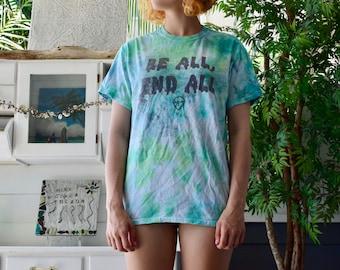 Alien Logo // Be All, End All // TIE DYE -blue & green