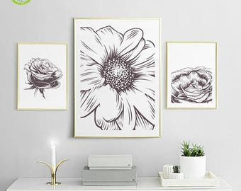 Black white decor Etsy