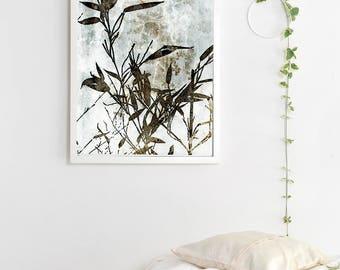 Botanical Wall Art, CEMENT BAMBOO, Botanical Print, Botanical Art, Digital Download, Botanical Printable Art
