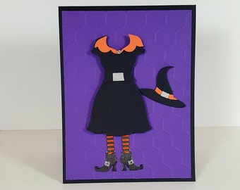 Halloween Card - Halloween Witch Dress Greeting