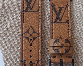 Apple watch strap, apple watch band, lv watch band, Apple watch 3,louis vuitton strap, handmade lv band, panerai straps, apple watch lv band