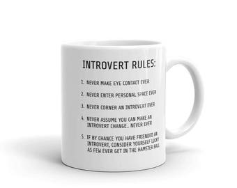 Introvert - Funny gift for Her - Funny Gift for Him - Socially Awkward  - Funny Mug - Coffee Cup - Definition - Shy - Socially Challenged