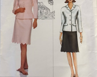 Vogue American Designer sewing pattern 2407 - Oscar de la Renta - Misses' jacket and skirt