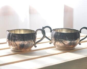 Vintage Creamer & Sugar Bowl--Tudor Plate