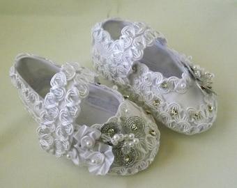 Christening Baby shoes, Baptism shoes, Zapatos de Bautizo de bebe, Zapatos de Bautizo