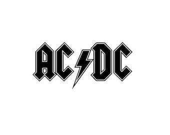 Acdc Font Free >> Ac sticker | Etsy