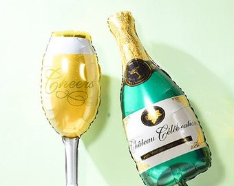 "37"" Giant Champagne Glass or Champagne Bottle Balloon